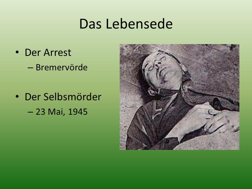 Das Lebensede Der Arrest – Bremervörde Der Selbsmörder – 23 Mai, 1945