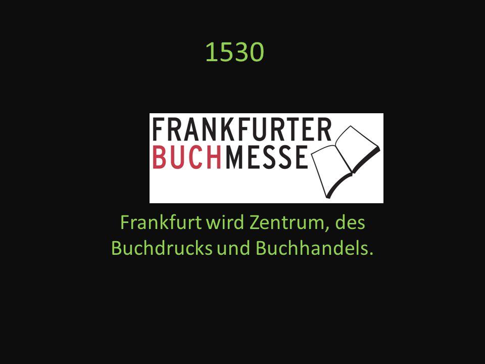1585 Beginn der Frankfurter Borse.