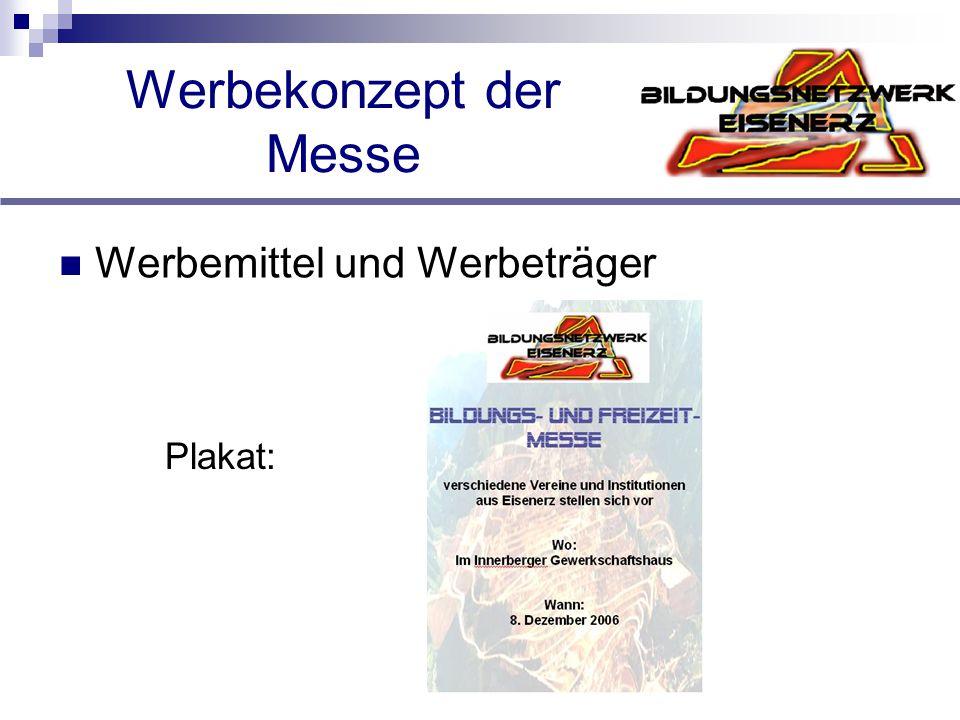 Werbekonzept der Messe Werbemittel und Werbeträger Plakat: