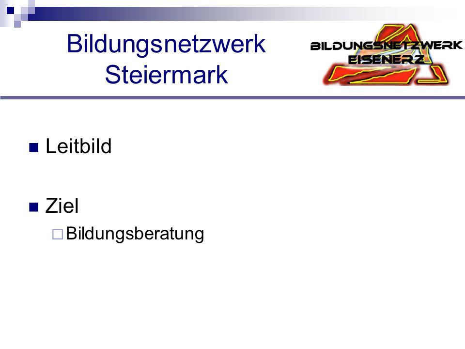 Bildungsnetzwerk Steiermark Leitbild Ziel  Bildungsberatung