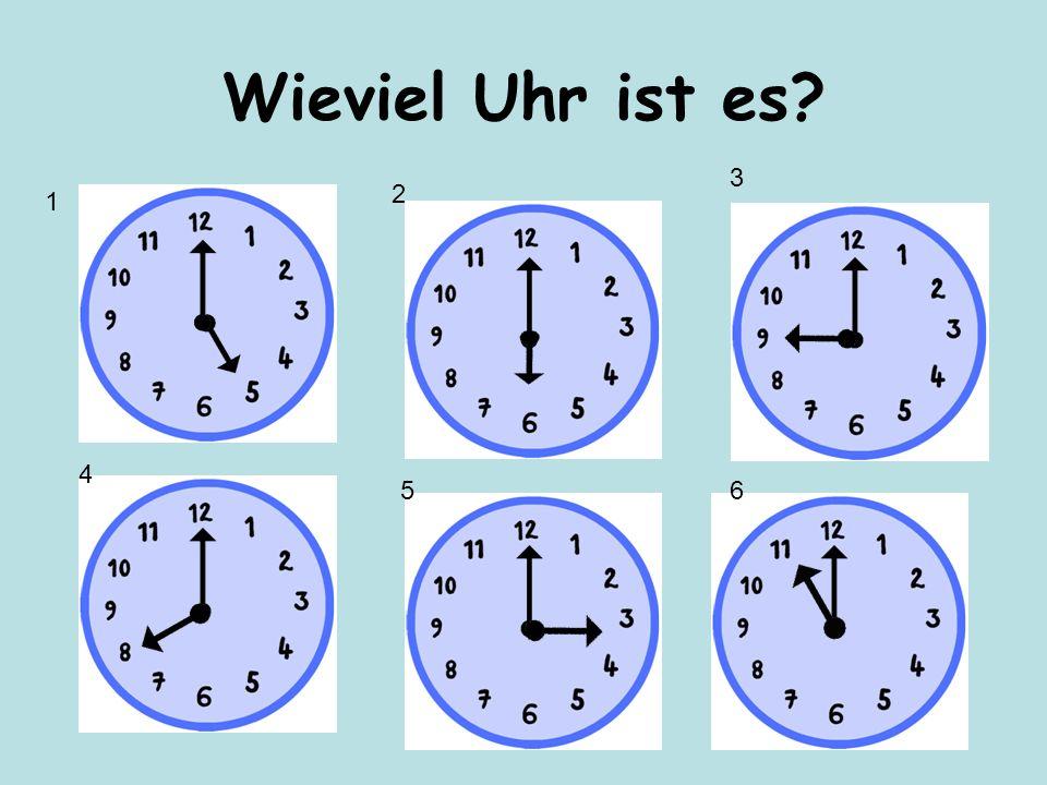Es ist zehn Uhr Wie spät ist es?
