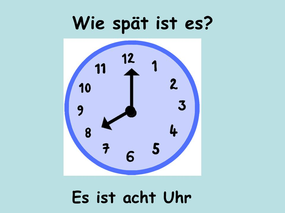 Es ist vier Uhr Wie spät ist es?