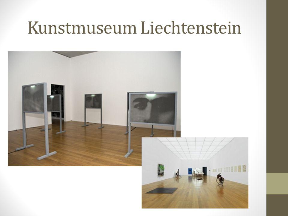 Kunstmuseum Liechtenstein Kern des Kunstmuseum Liechtenstein ist die Sammlung des Hauses. Alle weiteren Bereiche und Tätigkeiten leiten sich daraus ab