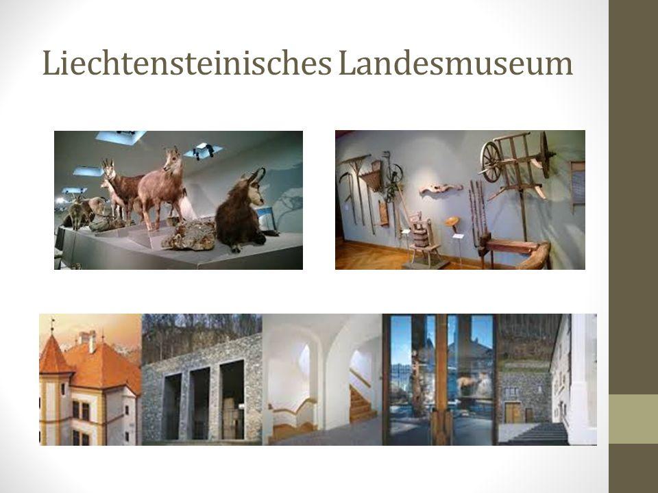 Das Liechtensteinische Landesmuseum präsentiert in Vaduz eine thematisch aufgebaute Dauerausstellung, die auf menschliche Tätigkeiten fokussiert ist.