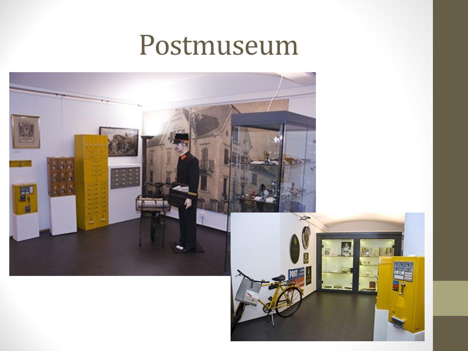 Postmuseum Das Museum befindet sich im Zentrum von Vaduz, in unmittelbarer Nähe des Liechtensteinischen Landesmuseums und zeigt: 1.Einen repräsentativ