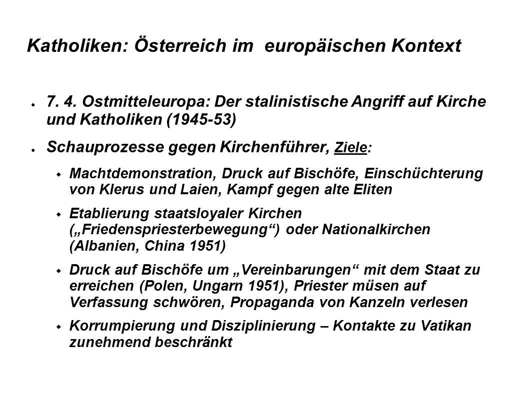 Katholiken: Österreich im europäischen Kontext ● 8.