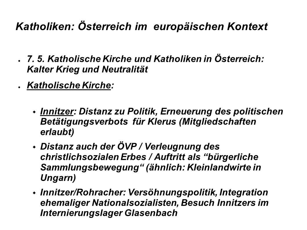 Katholiken: Österreich im europäischen Kontext  8.