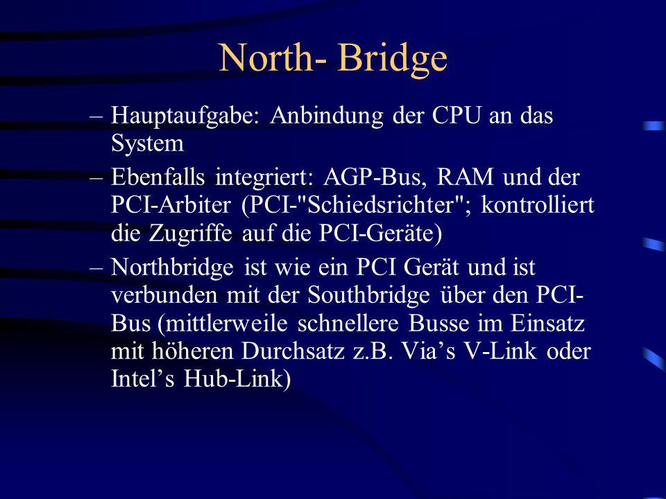Bridge-Architektur Northbridge Southbridg e