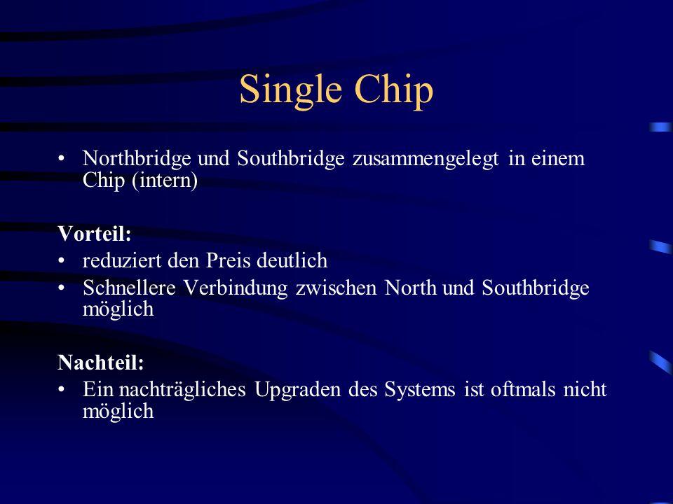 Hub- Architektur ICH ICH (Input Output Controller Hub) –entspricht in etwa der Southbridge enthält PCI- Arbiter –für externe ISA Endgeräte muss eine P