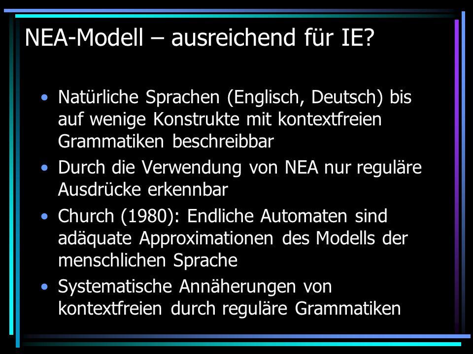 NEA-Modell – ausreichend für IE.