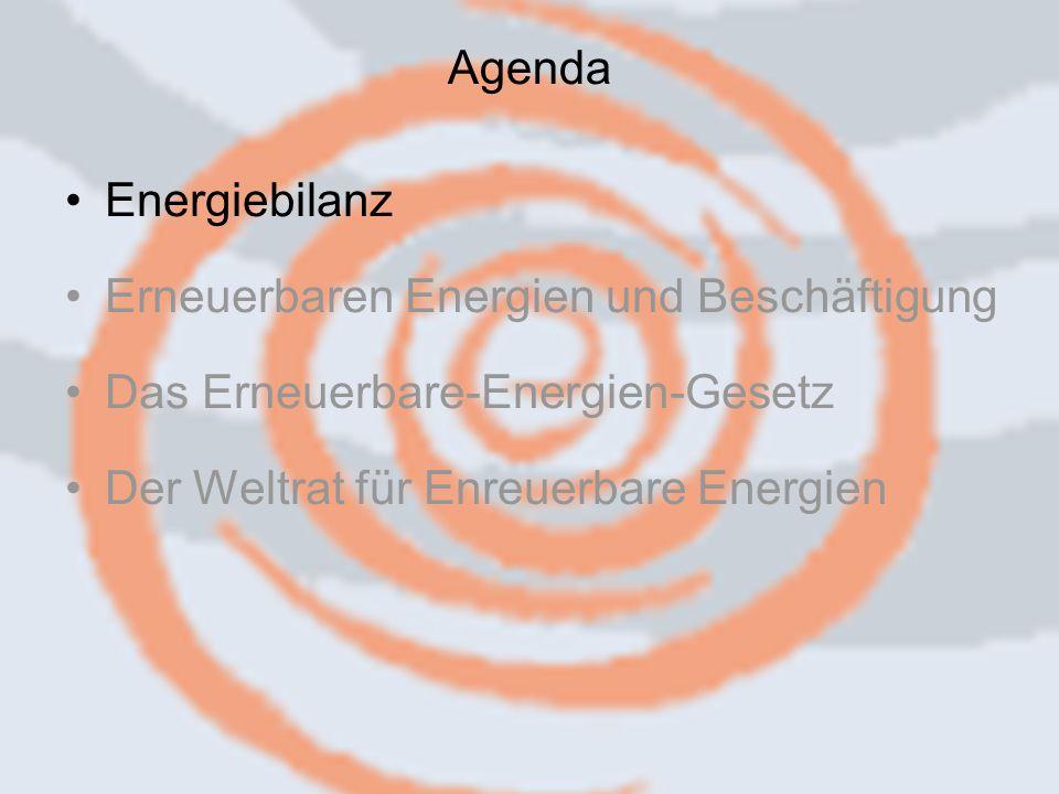 14.09.2006 Caren Herbstritt3 Energiebilanz Erneuerbaren Energien und Beschäftigung Das Erneuerbare-Energien-Gesetz Der Weltrat für Enreuerbare Energien Agenda