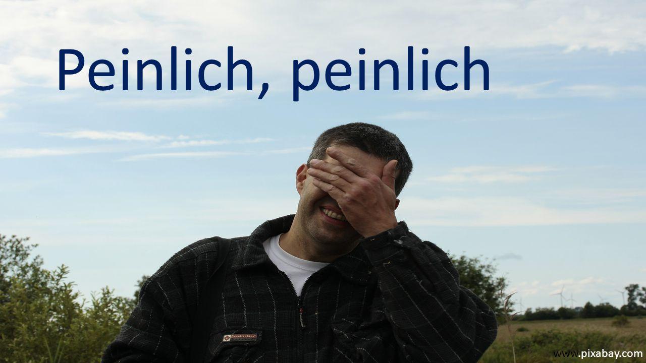 www.pixabay.com Peinlich, peinlich