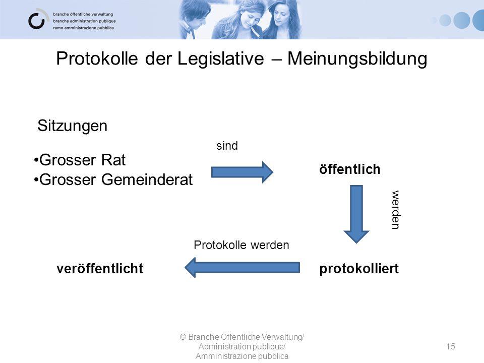 Protokolle der Legislative – Meinungsbildung Grosser Rat Grosser Gemeinderat protokolliert © Branche Öffentliche Verwaltung/ Administration publique/