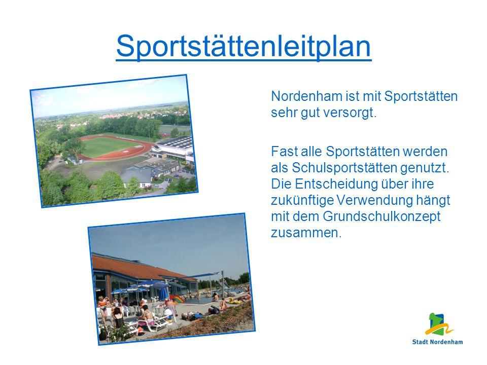 Sportstättenleitplan Nordenham ist mit Sportstätten sehr gut versorgt. Fast alle Sportstätten werden als Schulsportstätten genutzt. Die Entscheidung ü