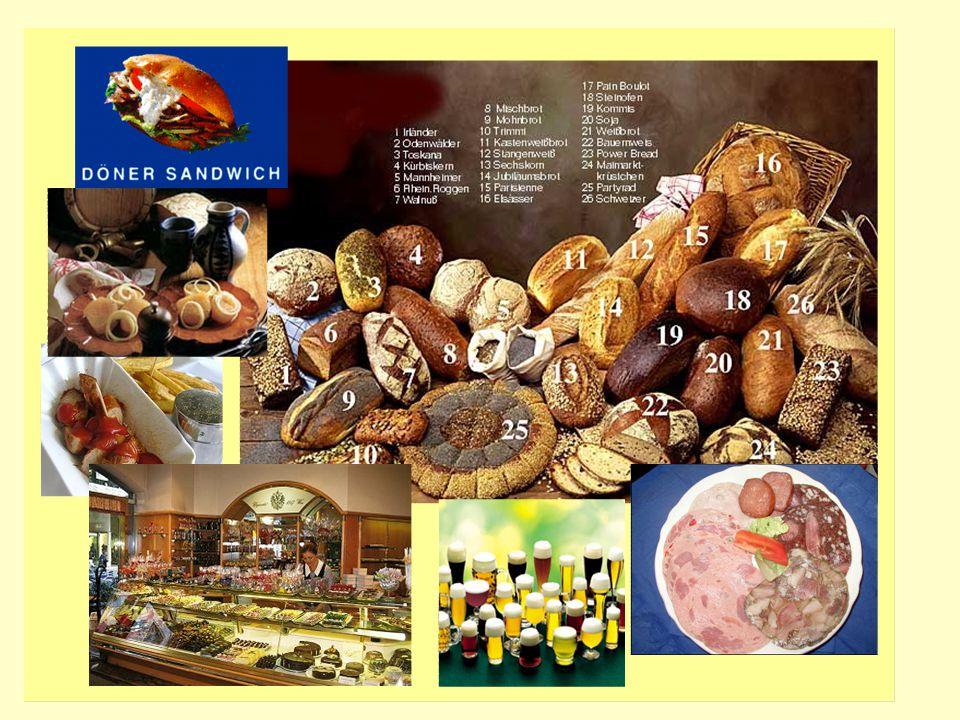 das Brot/eDie Deutschen essen sehr gern Brot, besonders zum Frühstück und Abendbrot.