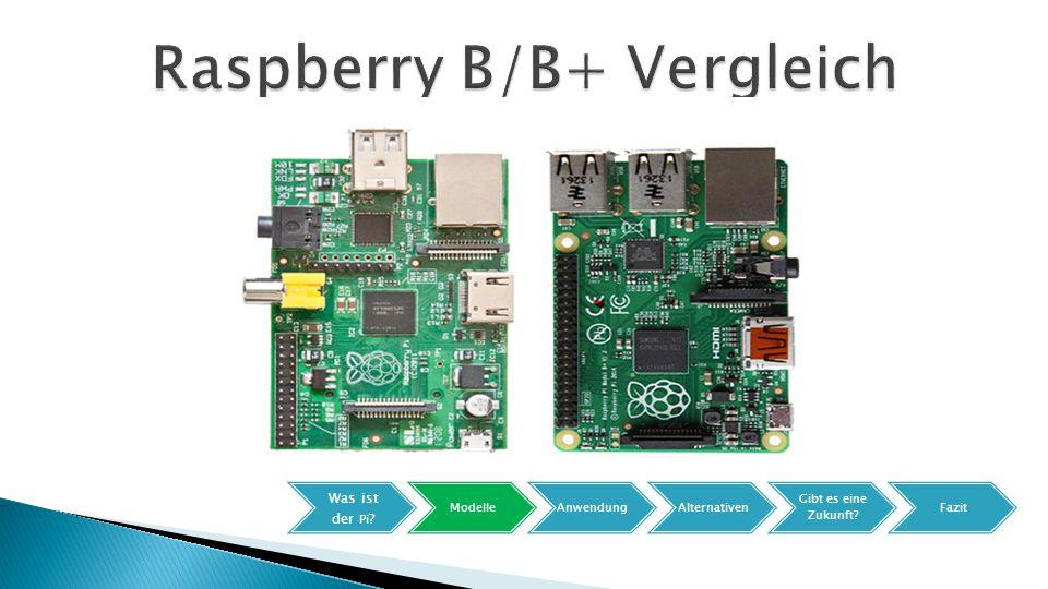  Abmessung 85,6x56mm  SoC: Broadcom BCM2836 ◦ ARM Cortex-A7 mit 900MHz (4 Kerne) ◦ GPU Broadcom VideoCore IV 1080p  RAM 1024MB  4 USB Ports  Preis 35$ Was ist der Pi .