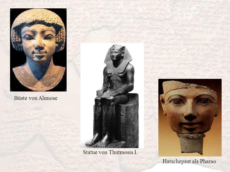 Büste von Ahmose Hatschepsut als Pharao Statue von Thutmosis I.