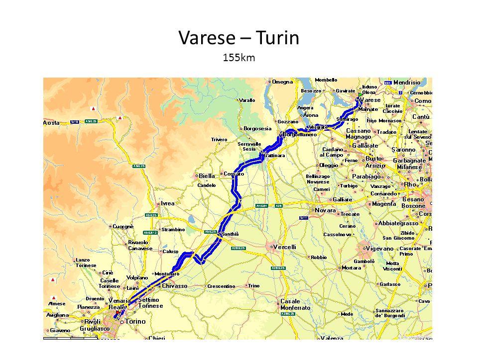 Varese – Turin 155km