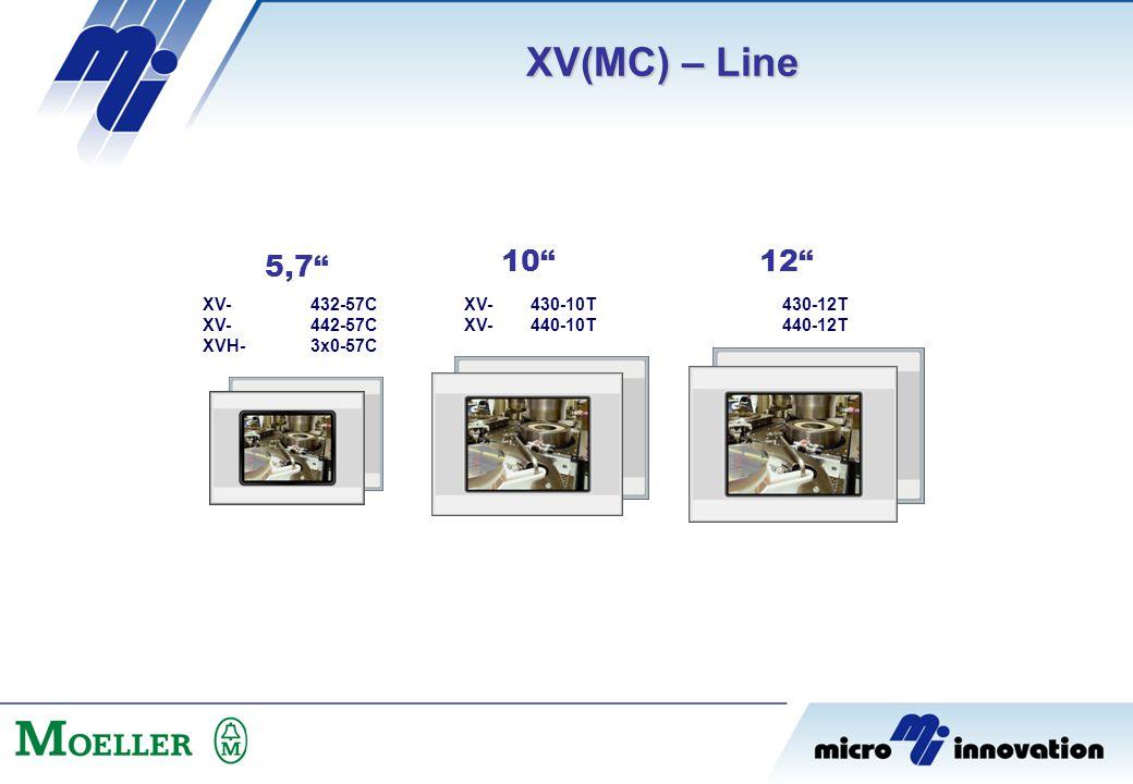 "XV(MC) – Line 432-57C 442-57C 3x0-57C 430-10T 440-10T XV- XVH- 430-12T 440-12T 5,7"" 10"" 12"" XV-"