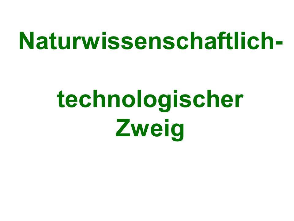 Naturwissenschaftlich- technologischer Zweig