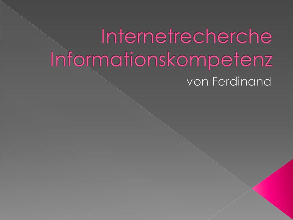- Für die meisten bedeutet Internetrecherche das Eintippen eines Suchbegriffs in eine Suchmaschine.
