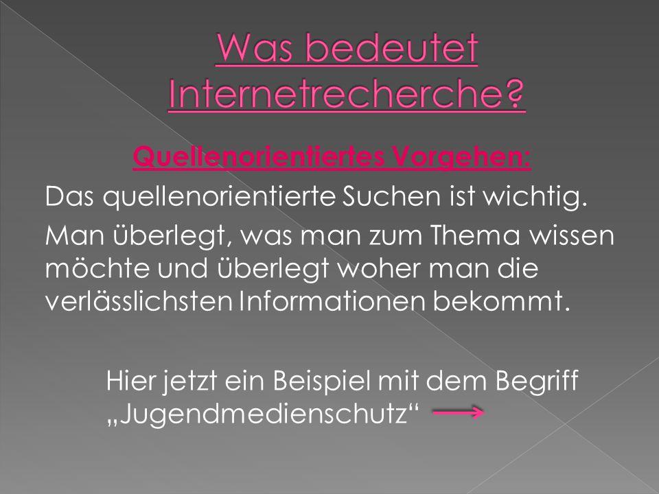 Quellenorientiertes Vorgehen:  Wer ist für den Jugendmedienschutz in Deutschland zuständig.