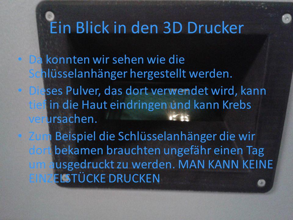 3D Druck Ergebnis Dieser Schlüsselanhänger wurde mit dem 3D Drucker ausgedruckt.