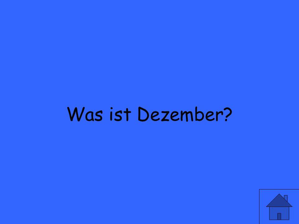 Wie sagt man December auf deutsch