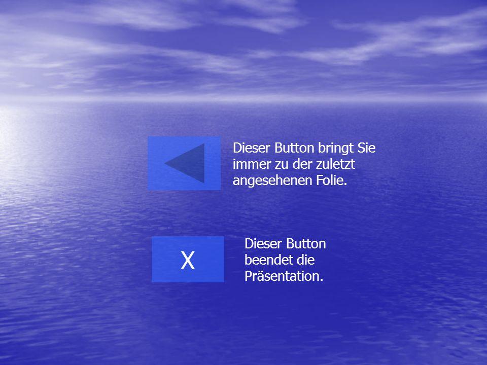 Dieser Button bringt Sie immer zu der zuletzt angesehenen Folie. X Dieser Button beendet die Präsentation.