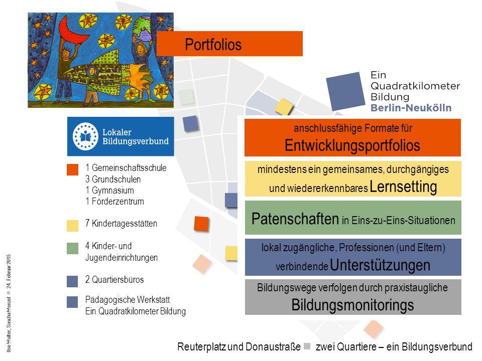 Ilse Wolter, Sascha Wenzel 24. Februar 2015 Reuterplatz und Donaustraße zwei Quartiere – ein Bildungsverbund Lernwerkstätten Portfolios anschlussfähig