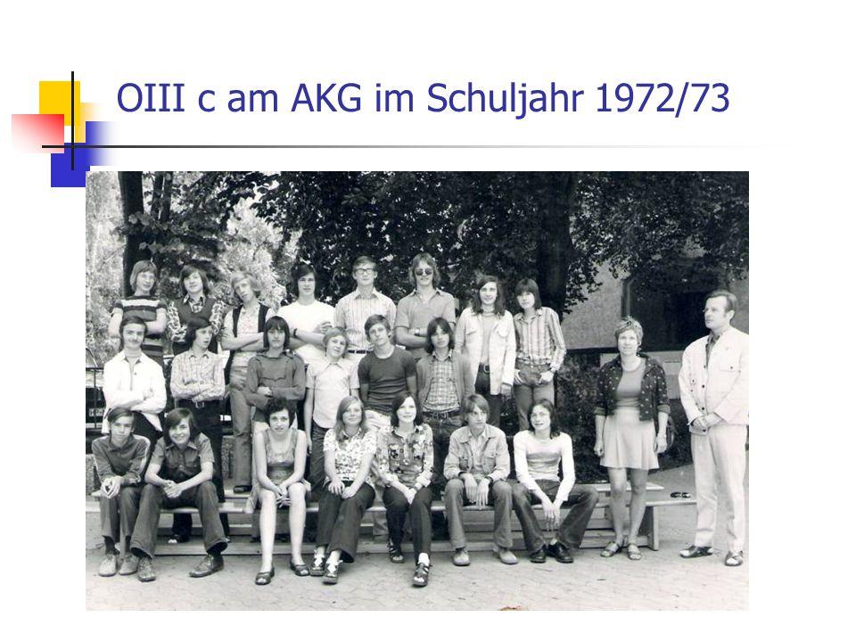 OIII c am AKG im Schuljahr 1972/73