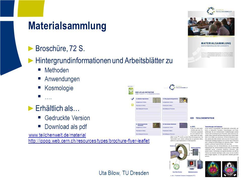 Materialsammlung 14 Uta Bilow, TU Dresden ► Broschüre, 72 S.