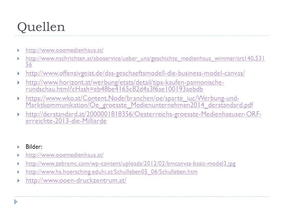Quellen  http://www.ooemedienhaus.at/ http://www.ooemedienhaus.at/  http://www.nachrichten.at/aboservice/ueber_uns/geschichte_medienhaus_wimmer/art1