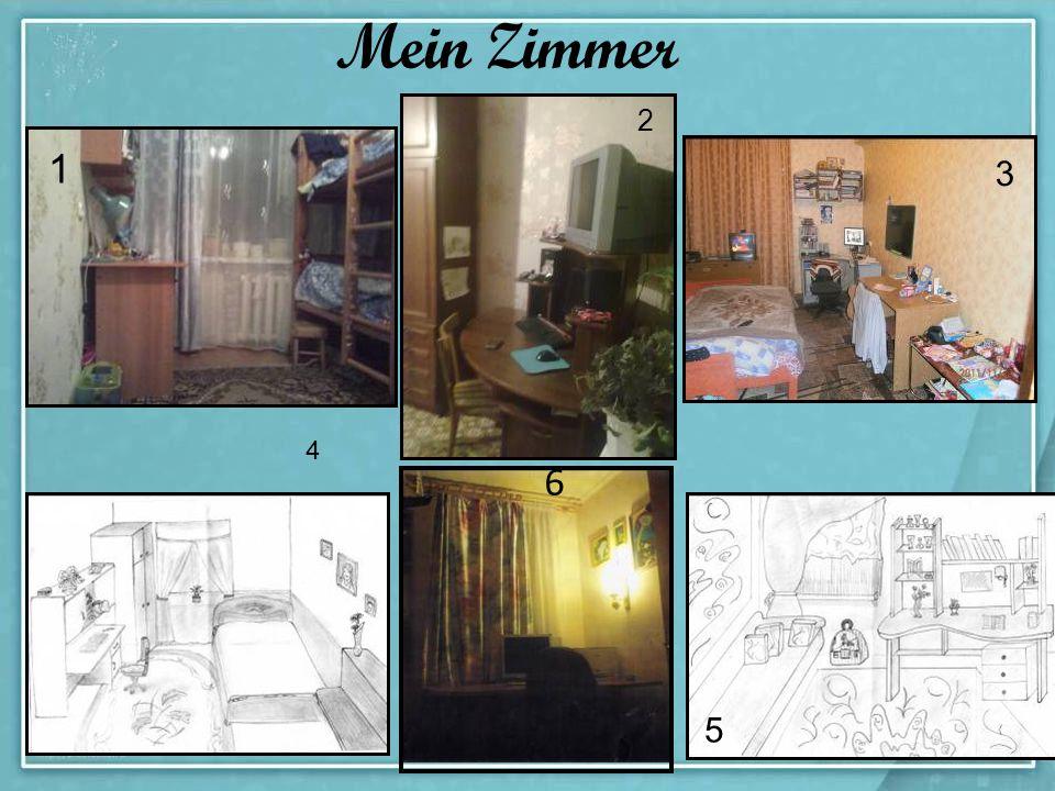 Mein Zimmer 1 2 3 4 5 6