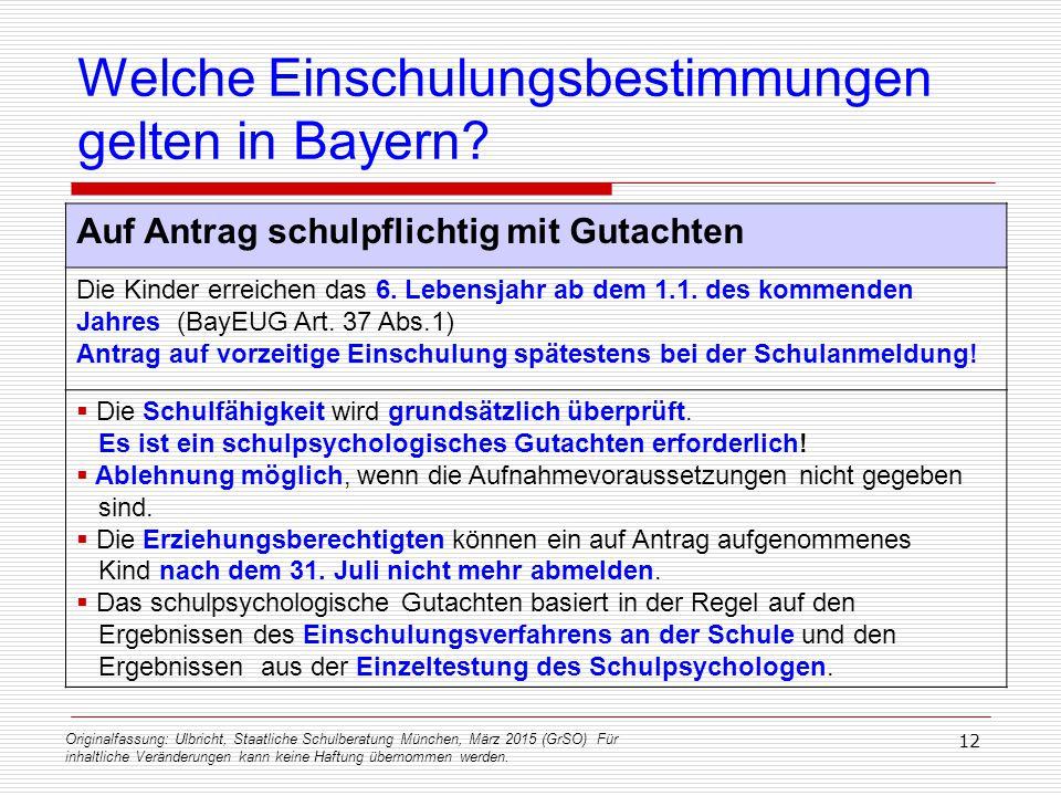 Originalfassung: Ulbricht, Staatliche Schulberatung München, März 2015 (GrSO) Für inhaltliche Veränderungen kann keine Haftung übernommen werden. 12 W