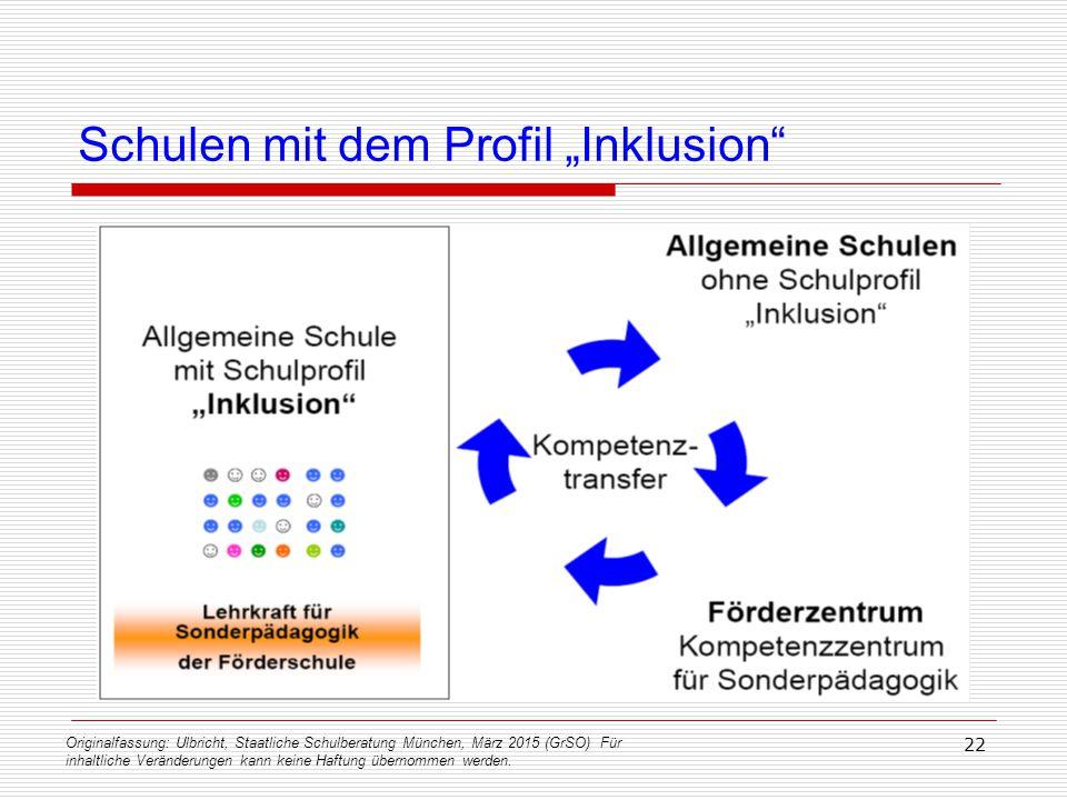 Originalfassung: Ulbricht, Staatliche Schulberatung München, März 2015 (GrSO) Für inhaltliche Veränderungen kann keine Haftung übernommen werden. 22 S