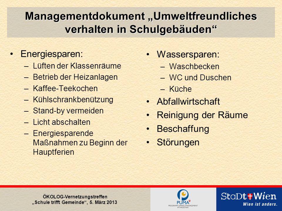 """ÖKOLOG-Vernetzungstreffen """"Schule trifft Gemeinde , 5. März 2013 Danke für Ihre Aufmerksamkeit"""