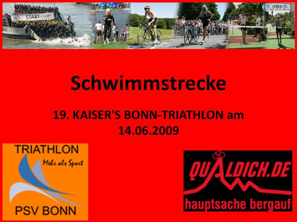 Schwimmstrecke 19. KAISER S BONN-TRIATHLON am 14.06.2009