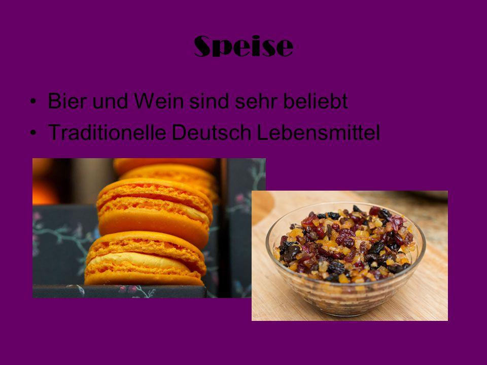 Speise Bier und Wein sind sehr beliebt Traditionelle Deutsch Lebensmittel