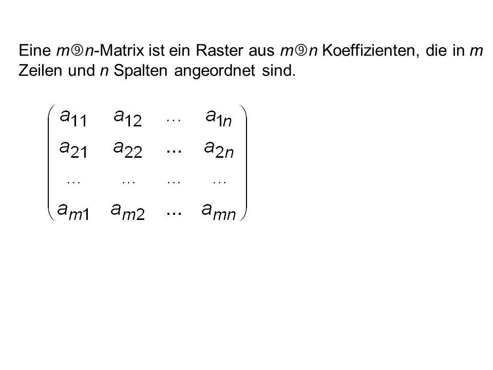 a 11 x 1 + a 12 x 2 +...+ a 1n x n = b 1 a 21 x 1 + a 22 x 2 +...