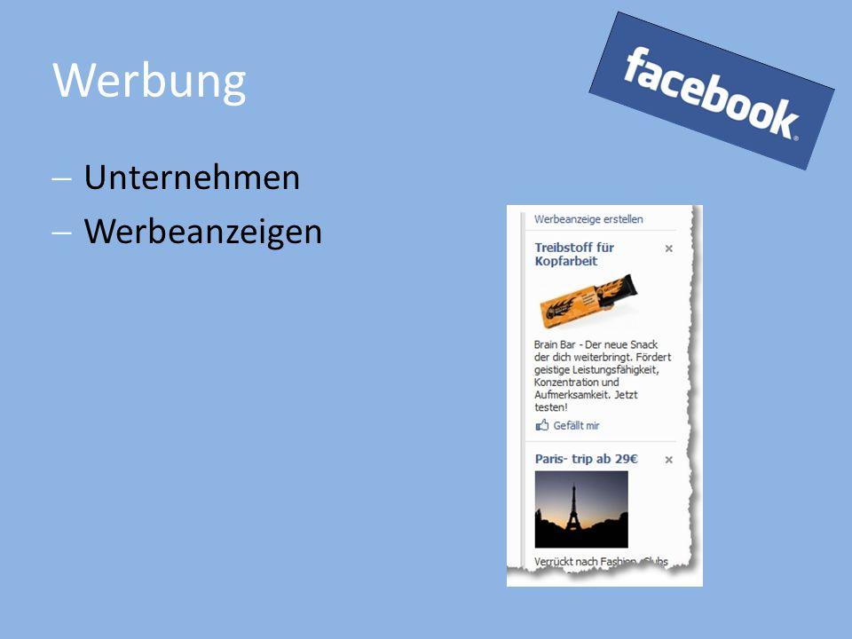 Werbung  Unternehmen  Werbeanzeigen