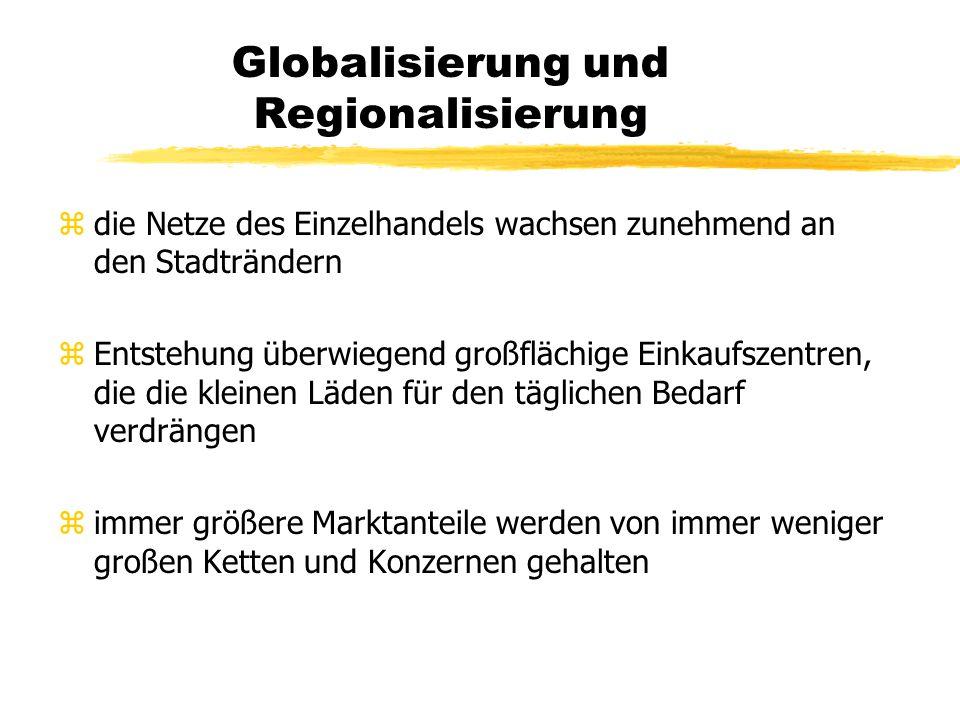 Globalisierung und Regionalisierung zdie wirklichen Entwicklungen der Raum- und Siedlungsstruktur laufen den neuen Grundsätzen der nachhaltigen Entwic
