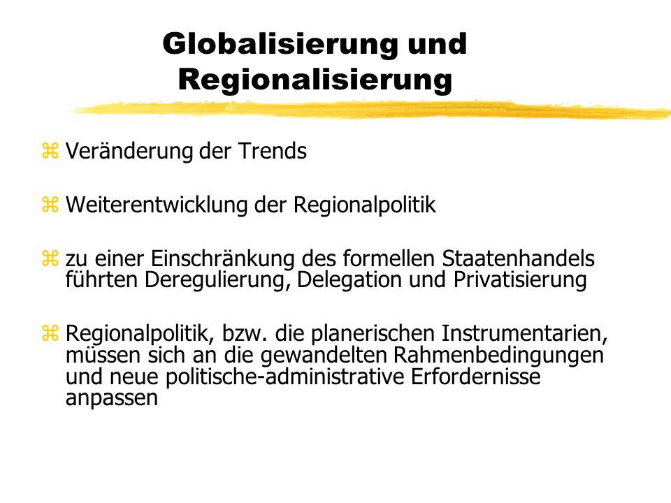 Globalisierung und Regionalisierung zdie Netze des Einzelhandels wachsen zunehmend an den Stadträndern zEntstehung überwiegend großflächige Einkaufsze
