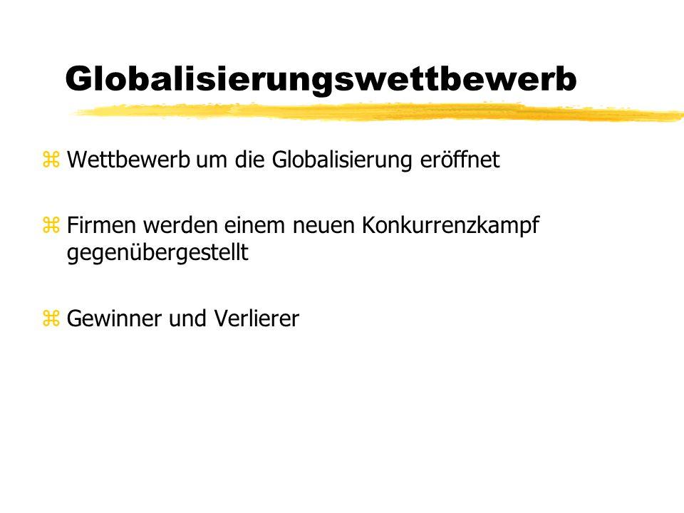 Globalisierung und Regionalisierung zVeränderung der Trends zWeiterentwicklung der Regionalpolitik zzu einer Einschränkung des formellen Staatenhandel