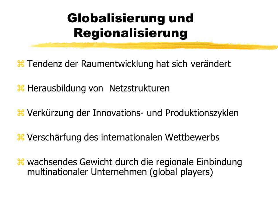 Globalisierung und Regionalisierung zlokale Ebene wird nicht an Bedeutung verlieren zGlobalisierung und der Einfluss der EU relativieren die Bedeutung