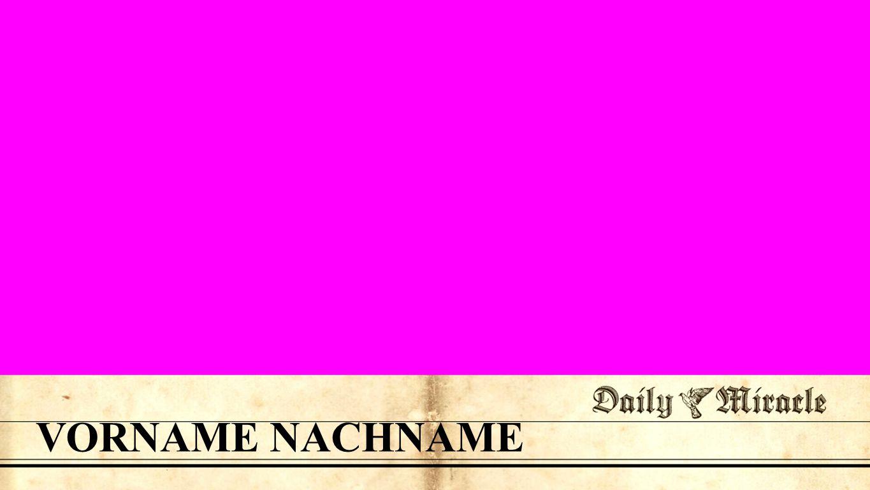 Namenseinblender VORNAME NACHNAME