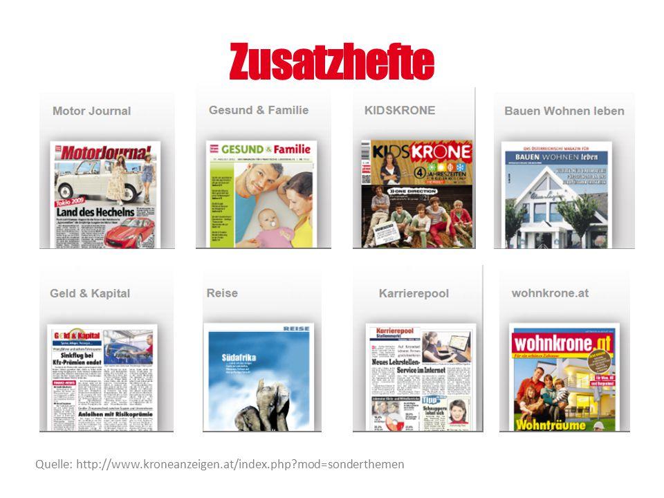 Zusatzhefte Quelle: http://www.kroneanzeigen.at/index.php?mod=sonderthemen