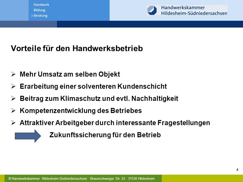 © Handwerkskammer Hildesheim-Südniedersachsen · Braunschweiger Str. 53 · 31134 Hildesheim 5