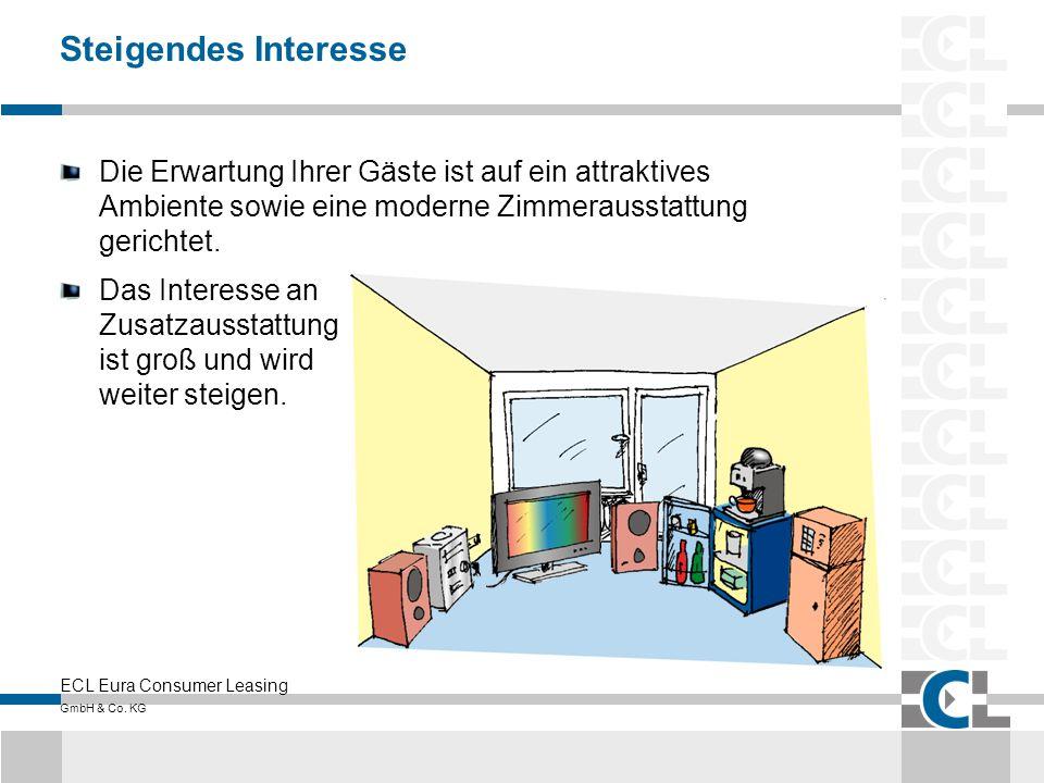 ECL Eura Consumer Leasing GmbH & Co. KG Steigendes Interesse Die Erwartung Ihrer Gäste ist auf ein attraktives Ambiente sowie eine moderne Zimmerausst