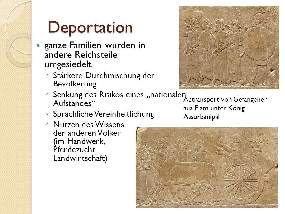 """Deportation ganze Familien wurden in andere Reichsteile umgesiedelt ◦ Stärkere Durchmischung der Bevölkerung ◦ Senkung des Risikos eines """"nationalen A"""